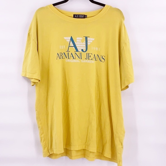 Armani Exchange Other - Men's Armani exchange yellow t shirt size xxl